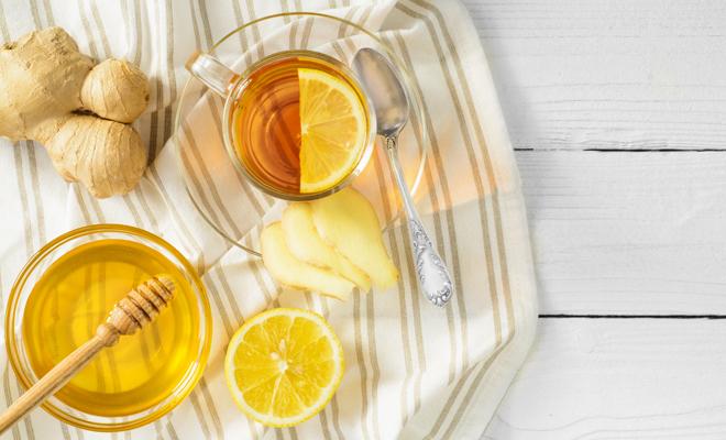 Miel con jengibre para el dolor de garganta
