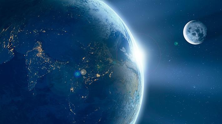 Vista espacial de un equinoccio