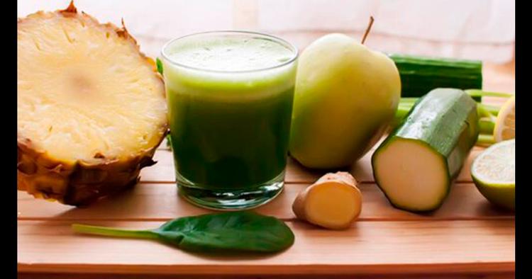 Ingredientes del jugo verde