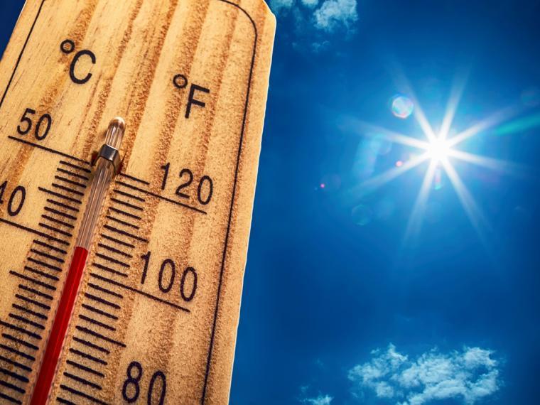 Termómetro en ola de calor