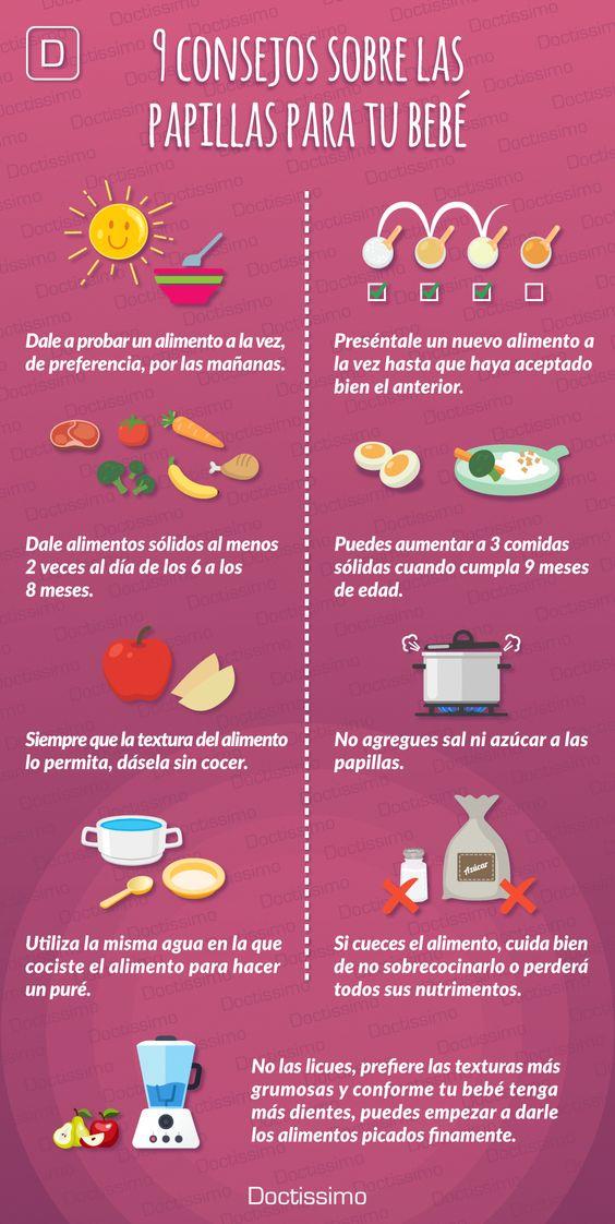 Tips para cuidar la alimentación para bebés
